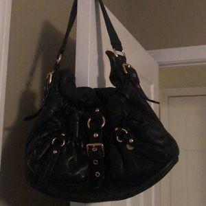 Michael Kors leather front buckle bag- EUC